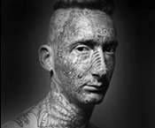 2005, zed nelson, tattoo, portrait, ink