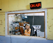 2011, paolo woods, haiti, le cayes, radio, dj, disc jockey, technology, music, culture, audience, media