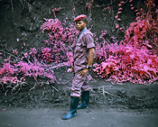 richard mosse, infra, eastern congo, kodak aerochrome, conflict, aerial surveillance, heart of darkness, tin tin, soldier